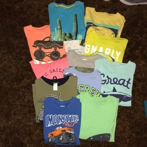 Other - Lot of 12 boys shirts size m 7-8